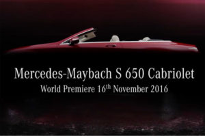 В Лос-Анджелесе представят кабриолет Mercedes-Maybach S650 Cabriolet